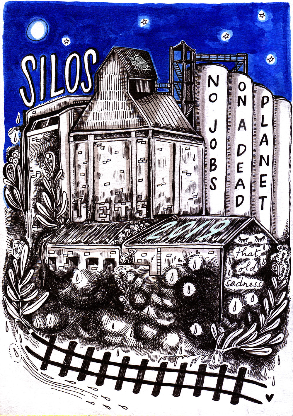Illustraion for song Silos on the Hill